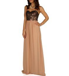 Brielle-Mocha Formal Dress