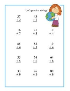 math worksheet : free math worksheets adding 2 digit numbers with regrouping  : Addition Of 2 Digit Numbers Worksheet