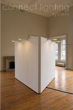 art exhibition lighting | CONNECT WALLS - Gallery-lighting-systems - Mobile - Temporary - Moveable - Free Standing