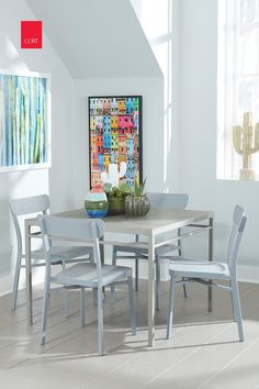 Dining Room Office Ideas to Help Balance Life and Work, from CORT Furniture. #homeoffice #wfh