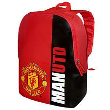 Manchester United FC Official Football Gift Sports Bag Backpack Red (RRP £14.99)