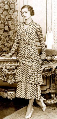 'Garden Party Dress', Paris - by Jeanne Paquin c.1930.