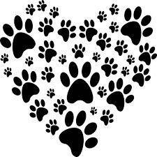 Image result for huellas de perro