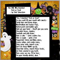 The ONE Who Invented Trick or Treat by Shel Silverstein (Fun Halloween Poem For Kids) - Mom Always Finds Out