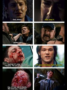 """""""It's always Dean, and I think that's what makes the character so great. He's the strongest one, he never falters. He may think he's an awful person and whatnot, but he always has his family's back when they screw up or go crazy or whatever, and I think that's amazing."""""""
