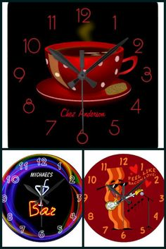 Customisable Wall Clocks by @partypeepz #zazzle