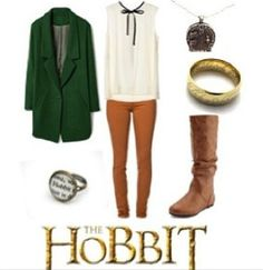 I would so wear this Bilbo inspired outfit Fall Outfits, Cute Outfits, Fashion Outfits, Womens Fashion, Hobbit Costume, Nerd Chic, Character Inspired Outfits, Nerd Fashion, Fandom Outfits