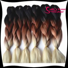 S-noilite 100g/pack 24inch Braiding Hair Ombre Two Tone Colored Jumbo Braids Hair Synthetic Hair For Dolls Crochet Hair Clear And Distinctive Hair Extensions & Wigs