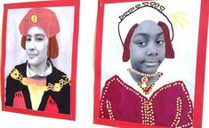 Tudor Roses and Royal Self-Portraits My year 5 class have just begun to learn all about The Tudors, one of my favourite periods in history! We kicked off by learning about the marriage of Henry V… Teaching Displays, School Displays, Classroom Displays, Primary Teaching, Teaching Art, Teaching Ideas, Castles Ks1, Castles Topic, Elizabeth Of York