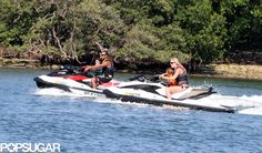 Tiger Woods and Lindsay Vonn Hit the Water With His Kids | Pics here!