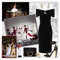 """""""Front Row at The Nutcracker Ballet!"""" by krusie ❤ liked on Polyvore featuring Kurt Adler, Emilio De La Morena, Alexander McQueen, STELLA McCARTNEY, Miguel Ases, Anzie and Van Cleef & Arpels"""