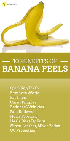 Benefits Of Banana Peels. Sounds weird right? But actually it's not! Before throwing the banana peel into the bin, read this post to know its ...