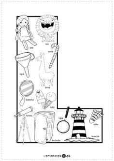 Polish Alphabet, Abc Centers, Polish Language, Alphabet Coloring Pages, Origami, Teaching, Logos, School, Double Deck Bed