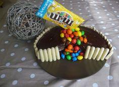 Papilles on/off: Gravity cake (gâteau au chocolat, nappage au chocolat et cascade de m&m's) au thermomix ou sans