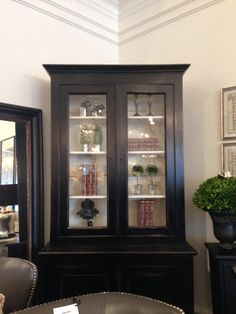 Late 1800's black French bookcase!  #retail #boutique #store #furniture #homedecor #winterberrylane #oakville #ontario #canada #antiques #transitional