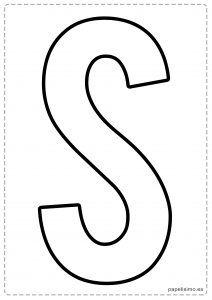 S letras para recortar y pegar guirnalda feliz cumpleaños Alphabet Writing, Learning The Alphabet, Baby Prints, Preschool, Fonts, Letters, Stitches, Barbie, Internet