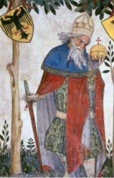 9 worthies | Юлий Цезарь с крестом на глобусе и ...
