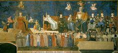 Амброджио Лоренцетти. Аллегория доброго правления. Росписи в сиенской ратуше. 1338-1340.