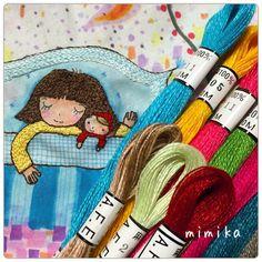 刺繍*眠り姫 眠り姫の枕を刺繍中です。 淡いあわ~い色合いの ブルーのグラデーション糸 ひたすらステッチしていると 集中が途切れて うとうと…… 楽しみに待っていた。 リネン100%の刺繍糸が届きました。 とにかく色が綺麗です💕 今持っているリネンの刺繍糸は、 弱くてすぐ切れて扱いにくいのですが これは、強くて使いやすいとのこと 本当かな? 使うの楽しみだな〜 #刺繍 #手作り #ステッチ #オリジナル #ハンドメイド #handmade #イラスト #図案 #embroidey #handwork #フレーム #眠り姫 #おかっぱちゃん #リネン #刺繍糸 #リネン100%