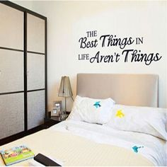 "SmartLegend Abnehmbare Wandsticker Wallsticker Wandtattoo Größe: 60cm*45cm DIY Motto ""The Best Things in life aren't things"""
