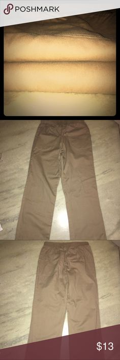 Dickies Khaki Pants Bundle Khakis Pants bundle includes two Khakis pants, size small (4-6). Pants have two front pockets and an elastic waist band. Pants are in good condition. They run large. Made from 100% cotton. Not Dickies, used for exposure. Also listed for sale on Ⓜ️. Dickies Pants Straight Leg