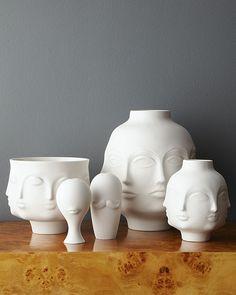 jonathan adler pottery, the Dora Maar collection Jonathan Adler, Dora Maar, Ceramic Vase, Ceramic Pottery, Slab Pottery, Thrown Pottery, Decorative Objects, Decorative Pillows, Deco Design