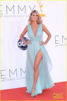 Heidi Klum - Emmys 2012 Red Carpet - Alexandre Vauthier dress, Charlotte Olympia custom shoes, Lorraine Schwartz jewels
