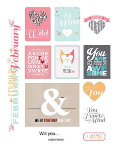 Free February 2015 Printables from Paper Crafts & Scrapbooking