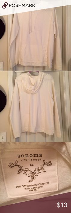 NWOT Hoodie Size XL | color: off white | never worn | purchased from Kohl's Sonoma Tops Sweatshirts & Hoodies