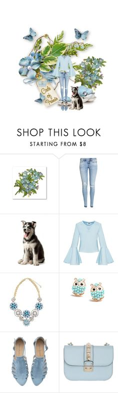 """""""A Fun Blue Set"""" by freshstart60 ❤ liked on Polyvore featuring H&M and Valentino"""