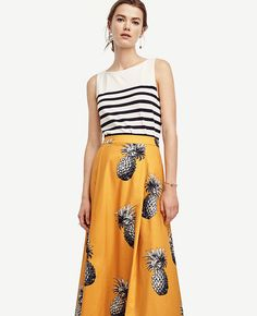 ann taylor pineapple maxi skirt