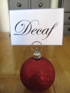 Holiday Place Card Holders @Stephanie VandenBerg thought this was a very cute idea.