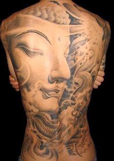 Tattoos of Meditation Buddha for Women, Buddha in Meditation Tattoos, Meditation Buddha for Back of Women.