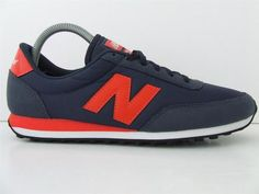 New Balance 410 MNNR Retro Trainers Navy Blue Red