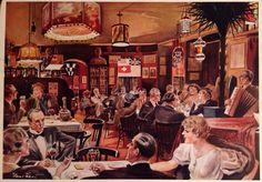 Taverne Willy Lehmann 1935 postcard Ristorante Italiano Berlin W 62, Courbiere- Ecke Kurfurstenstr.