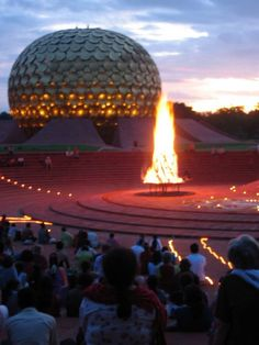 Stay in Auroville for few months, meeting a wonderful interesting community, a worthwhile experience *** Great Places, Places To See, Beautiful Places, Auroville India, Creative Zen, Bay Of Bengal, Evergreen Forest, French Colonial, World Cities