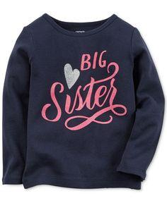 Carter's Little Girls' Big Sister Long-Sleeve T-Shirt