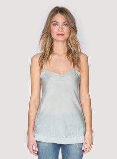 Johnny Was Clothing 4 Love and Liberty medium silk slip in Mint Julep