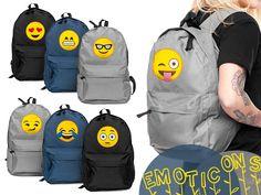 PLECAK Emoji Emoticons PLECAKI Szkolna Vintage