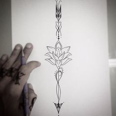 #mulpix Flecha com lotus de frente!  #tattoo  #tatuaje  #tatouage  #tatuagem…