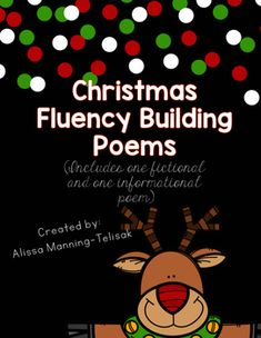 Research shows that repeated oral readings of texts helps to improve students reading fluency. These two back to school poems (Late Night Flight and All About Reindeer) are geared at helping to improve student's reading fluency.  One is a fiction poem and one is a non-fiction poem.Poetry notebooks are a fun way to practice!