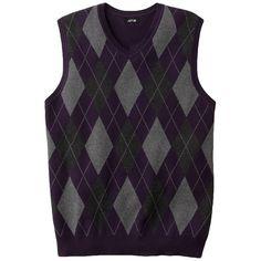Apt. 9 Argyle Sweater Vest ($22) via Polyvore