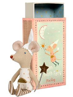 toothfairy girl mouse in a box from Pink Olive - $36.00