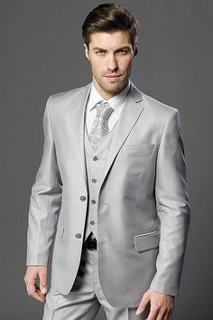 Customize Groom Dress Men'S Clothes Light Grey Suitable For Wedding The Groom,Holds The Classic Suit ManJacket+Pants+Tie+Vest Men Prom Clothes Men Prom Tuxedos From Good Happy, $67.34| Dhgate.Com