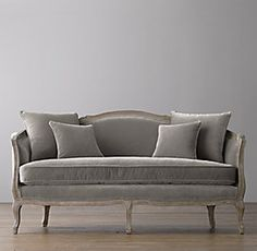 RH Baby & Child's Ondine Velvet Salon Bench - Burnt Oak:Elegant and refined, our benches are modeled after French originals i… French Furniture, Sofa Furniture, Sofa Chair, Furniture Design, Sofas, Restoration Hardware Baby, French Sofa, Funky Home Decor, Vintage Sofa