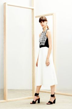 Derek Lam 10 Crosby | Resort 2015 Collection | Style.com summer cute - love the sandals!