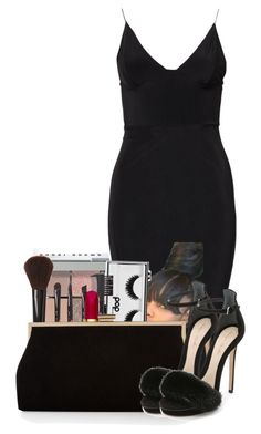 """""""Untitled #2630"""" by alisha-caprise ❤ liked on Polyvore featuring Club L, Bobbi Brown Cosmetics, Pop Beauty, Forever 21, Christian Dior, Monsoon and Monique Lhuillier"""
