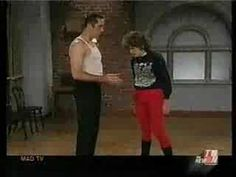 "Mad TV - Mo Collins as ""Lorraine"" takes dance lessons"