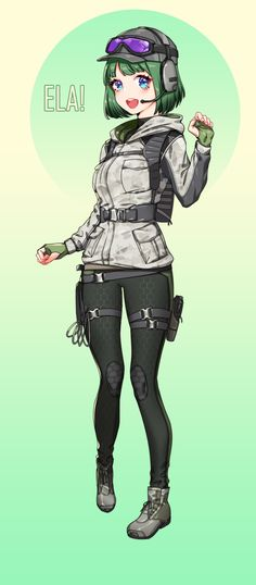 ELA anime version Rainbow Six Siege Anime, Rainbow 6 Seige, Rainbow Six Siege Memes, Tom Clancy's Rainbow Six, Rainbow Art, Ela Bosak, Game Character, Character Design, R6 Wallpaper