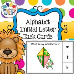 These task cards include images starting with every letter of the alphabet . There are 3 images per letter (except for x, which has 2) making a total of 77 task cards.They come in black and white and color/colour option for your preference. I recommend cutting out and laminating each task card individually to make them stronger and prolong the use of them.There are 3 choices of answers on the right hand side for students to select the correct answer of the initial sound of the animal.